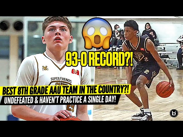 BEST 8TH GRADE TEAM IN THE COUNTRY?! 93-0 RECORD WITH NO PRACTICE! SUPER FRIENDS AAU IS TOO DOMINATE