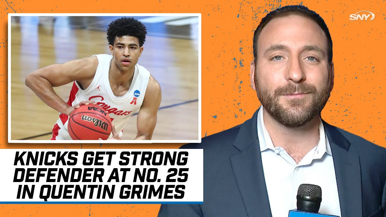 Knicks select Quentin Grimes with No. 25 pick in 2021 NBA Draft, SNY Insider Ian Begley reacts | SNY