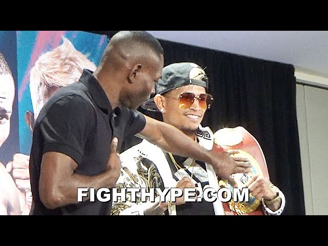 RIGONDEAUX PUTS HANDS ON JOHN RIEL CASIMERO TITLE; STARE EACH OTHER DOWN & TRADE WORDS AT FACE OFF