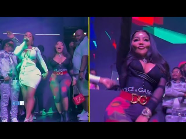 Crowd Goes Crazy When Lil Kim Enters The Stage At A Night Club 'Queen Of New York Is In Da Building'
