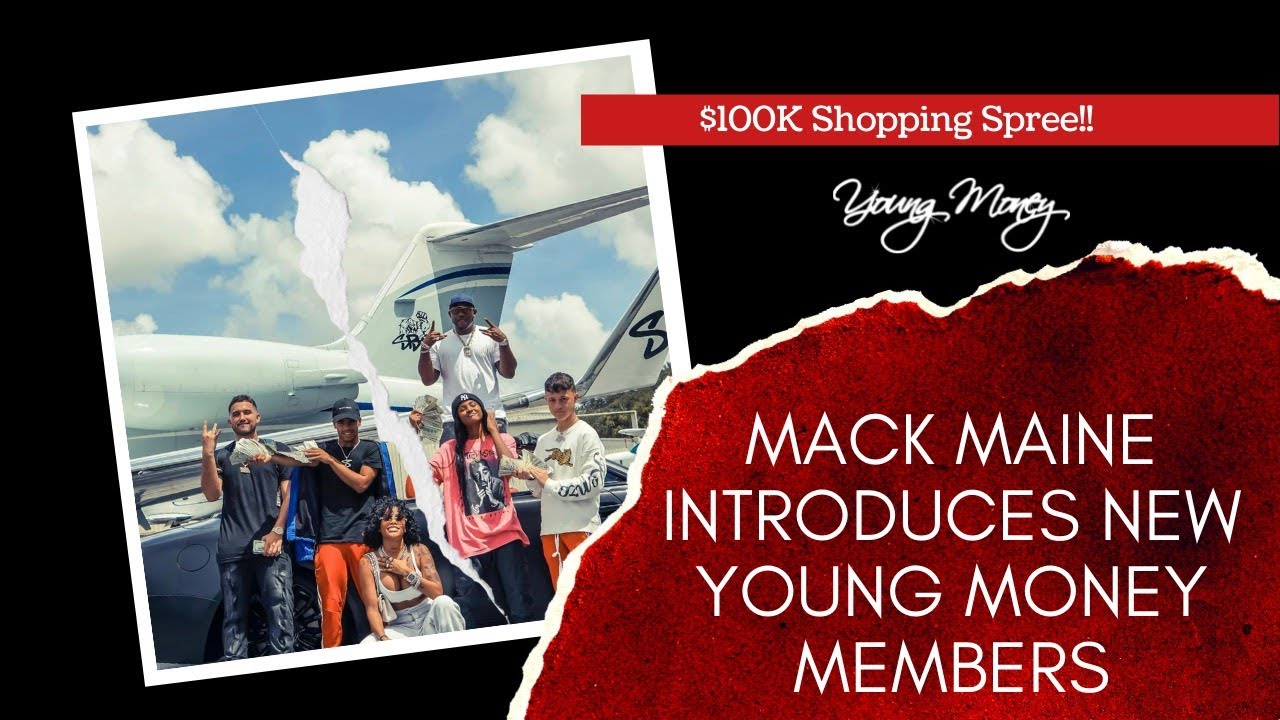Mack Maine Hands Out $100K To The New Members of Young Money On Private Jet