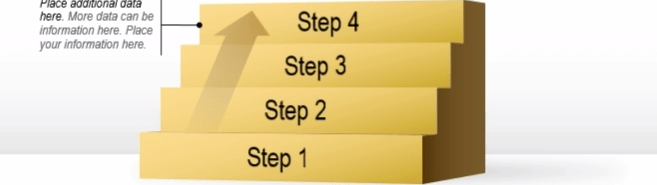 Step Up Your Presentations With Powerpoint Stair Diagrams Get My | Hardwood Steps For Stairs | Modern White Oak Stair | Cover | Iron Baluster | Unfinished | Staircase