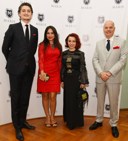cu Excelenta Sa, Dl Diego Brasioli, Ambasadorul Italiei in Romania si Vlad Maris, owner Maris Made to Measure