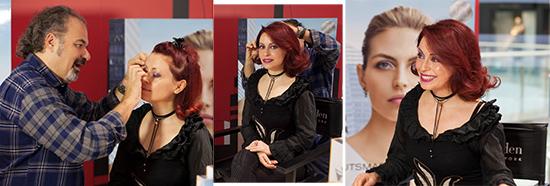 my make-up by Yves Hajjar, international make-up artist Elizabeth Arden