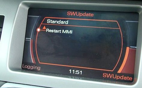 Audi A4 MMI 2G Navigation DVD Eastern Europe install complete
