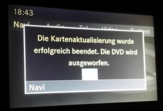 Mercedes C Class (W204) NTG 4 Navigation Maps DVD Europe 2018