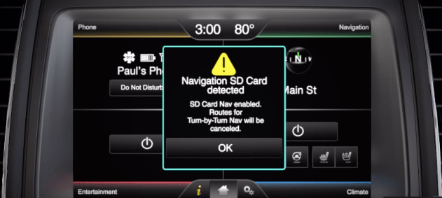 Ford F8 Sync 2 SD Card Navigation Map Europe