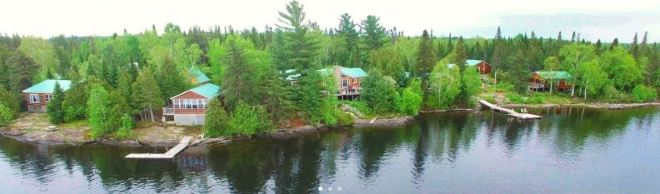 Ellen Island Camp In Haileybury, Northeastern Ontario
