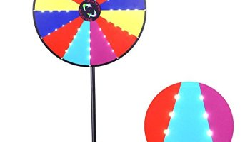 18 Round Tabletop Color Dry Erase Spinning Board Prize Wheel 14