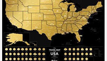 Full Color Deluxe Scratch Off Map Large Places Ive Been World - Scratch off us map