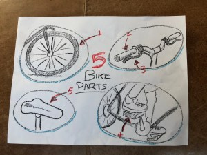 Drawing of bike parts