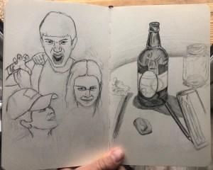 Random sketches in my sketchbook