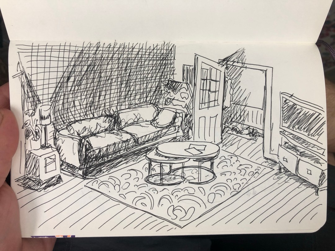 Drawing of a room