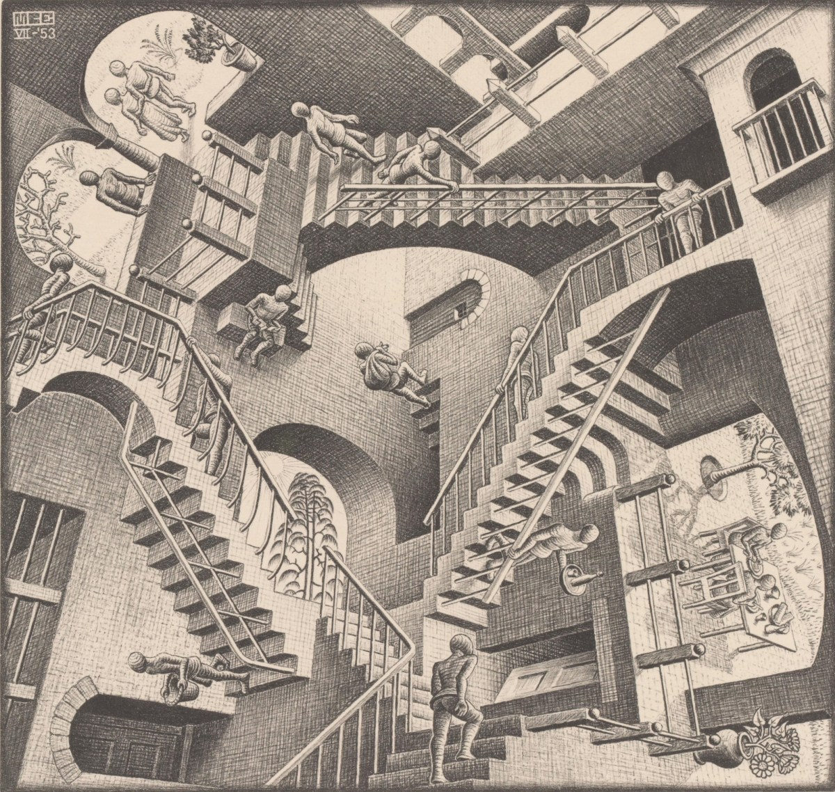 MC Escher print