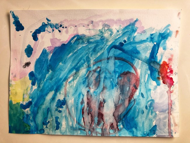 Abstract watercolor painting.