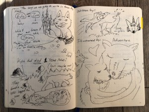 Sketches of a story from my notebook.