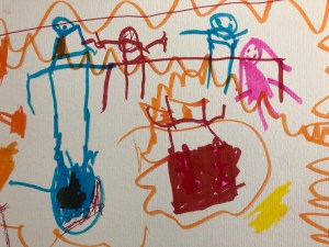 Stick figure drawing from Sam.