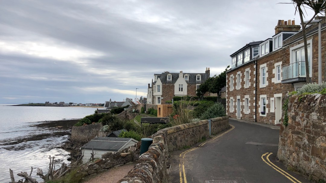 The coast of the town of Elie, Scotland.