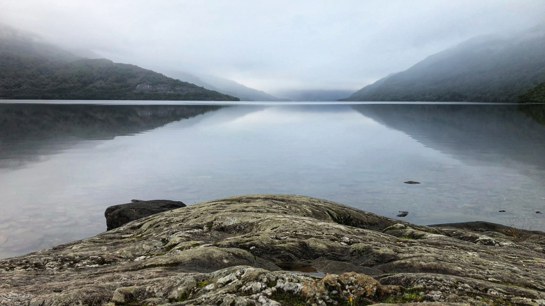 Loch Lomond on a misty morning