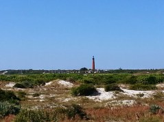 Smyrna Dunes Park looks out at Ponce Inlet Lighthouse
