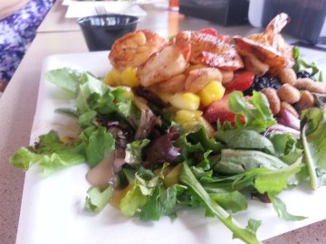 Citrus Shrimp Salad at North Beach Bar and Grill on Tybee Island
