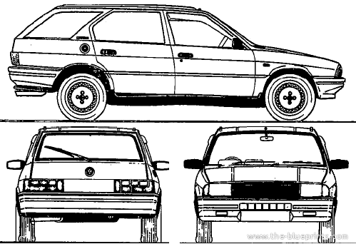 1988 Alfa Romeo Alfa 33 Giardinetta Wagon blueprints free