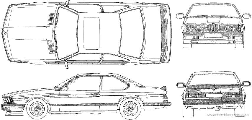 1986 BMW Alpina B7 Turbo (BMW 635 CSi) Coupe blueprints