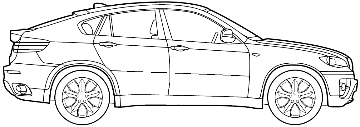 Bmw I8 Drawing Outlines