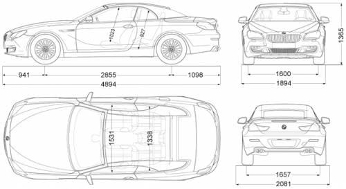 2011 BMW 6-series 650i Convertible Cabriolet blueprints