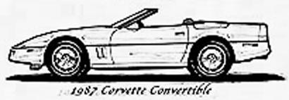 1987 Chevrolet Corvette C4 Convertible Cabriolet