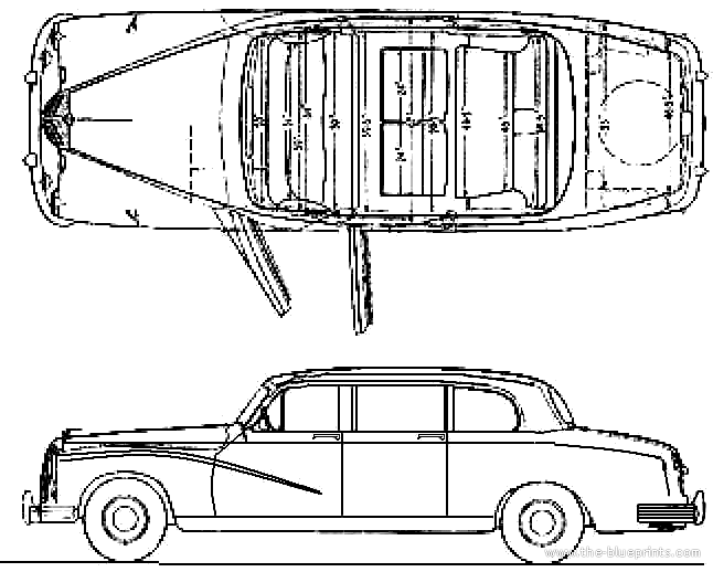 1963 Daimler Majestic Major DR-450 Limousine blueprints