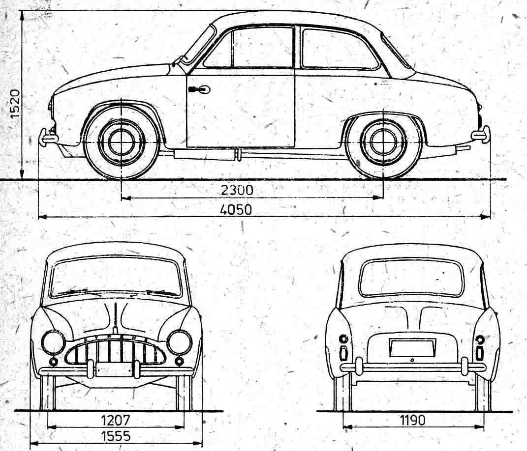 Fso Syrena Prototype Coupe Blueprints Free