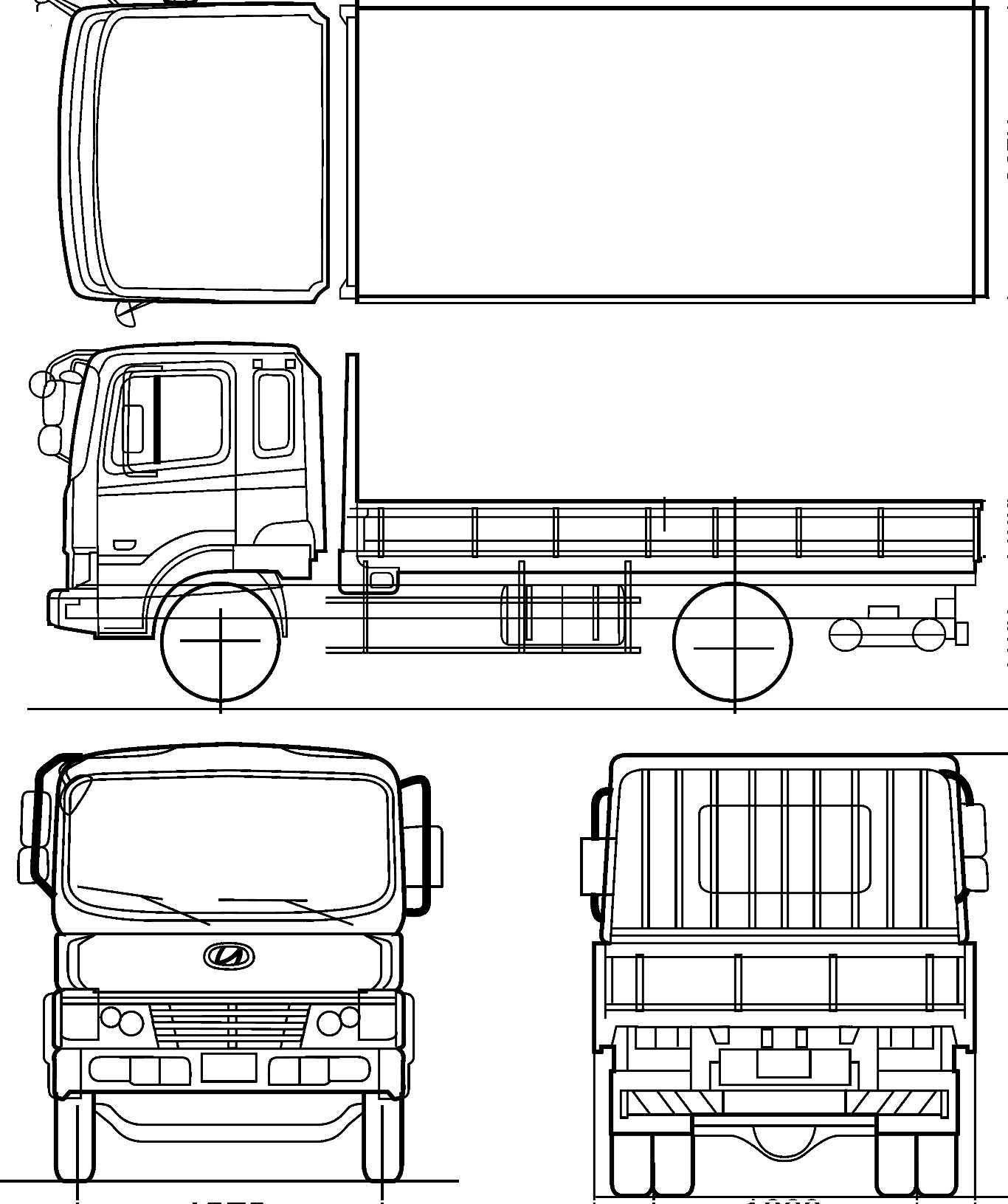 Hyundai Megatruck Heavy Truck Blueprints Free