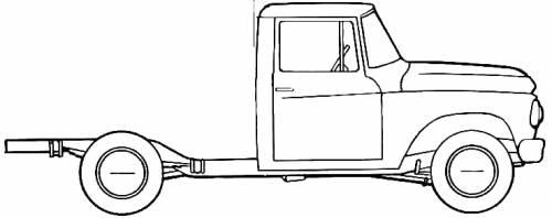 1961 International C-120 4x4 Heavy Truck blueprints free