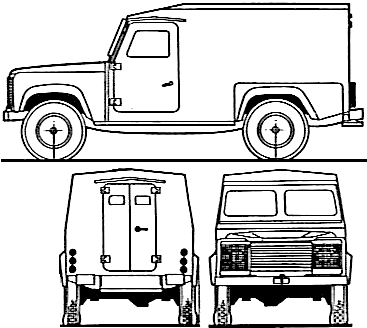 1983 Land Rover Armoured Patrol Vehicle SUV blueprints
