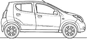 2009 Maruti Suzuki A Star Alto Hatchback blueprints free