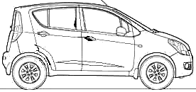 2009 Maruti Suzuki Ritz ZXI Splash Hatchback blueprints