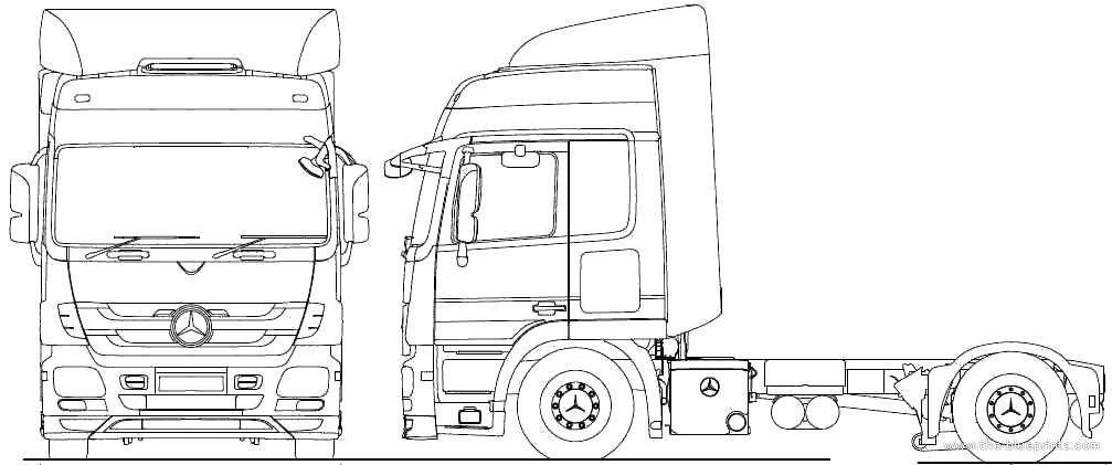 2010 Mercedes-Benz Actros 4x2 Lowliner Tractor Heavy Truck