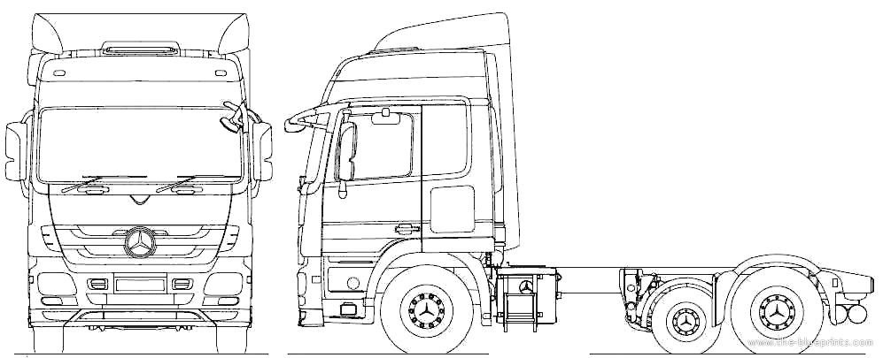 2010 Mercedes-Benz Actros 6x2 Midlift Tractor Heavy Truck