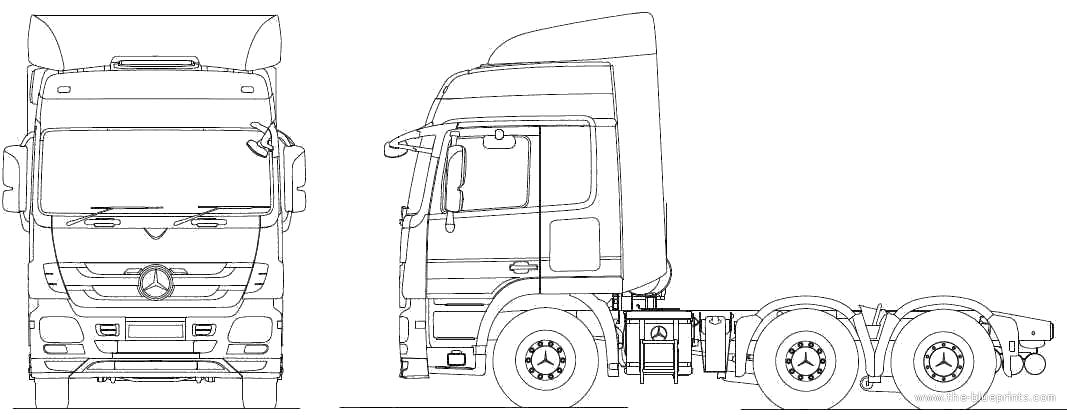 2010 Mercedes-Benz Actros 6x2 Tractor Heavy Truck