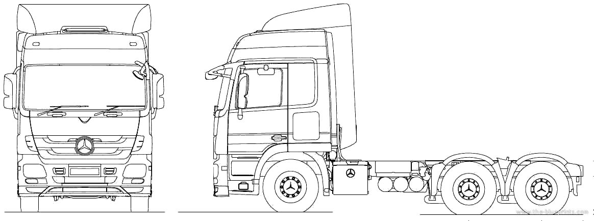 2010 Mercedes-Benz Actros 6x4 Tractor Heavy Truck