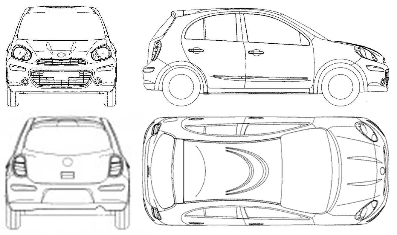 Nissan Micra Hatchback Blueprints Free