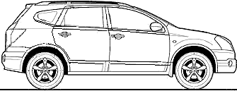2008 Nissan Qashqai 2.20 DCi Acenta SUV blueprints free