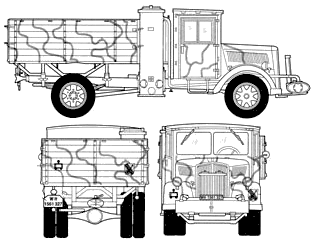 1939 Opel Blitz Kfz305 3t Coal Engine Heavy Truck