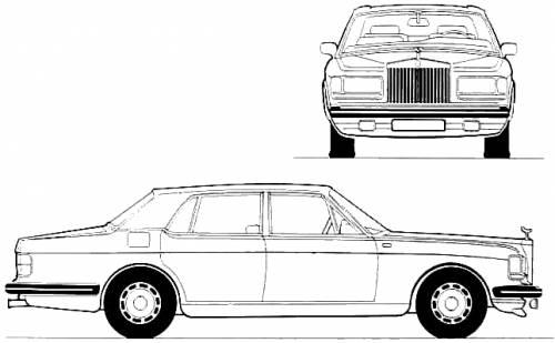 1982 Rolls-Royce Silver Spirit Limousine blueprints free