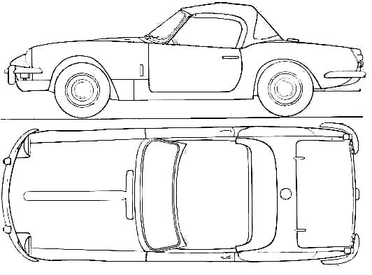 1967 Triumph Spitfire Mk III Cabriolet v2 blueprints free