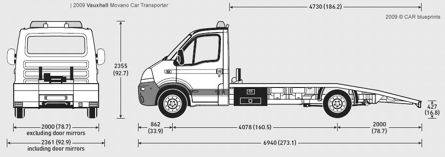 2009 Vauxhall Movano Car Transporter Heavy Truck