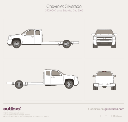 Chevrolet blueprints collection, download all models for