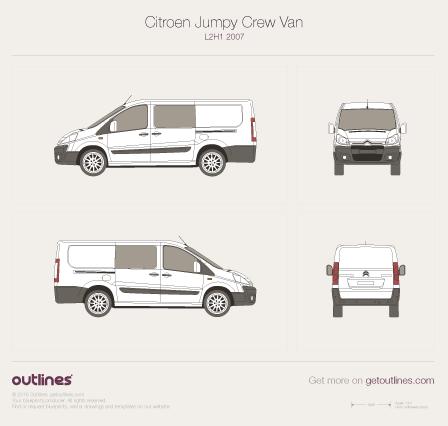 2007 Citroen Dispatch Crew Van L2 H1 Van drawings