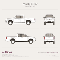 1989 Mazda B-Series Extended Cab Pickup Truck drawings